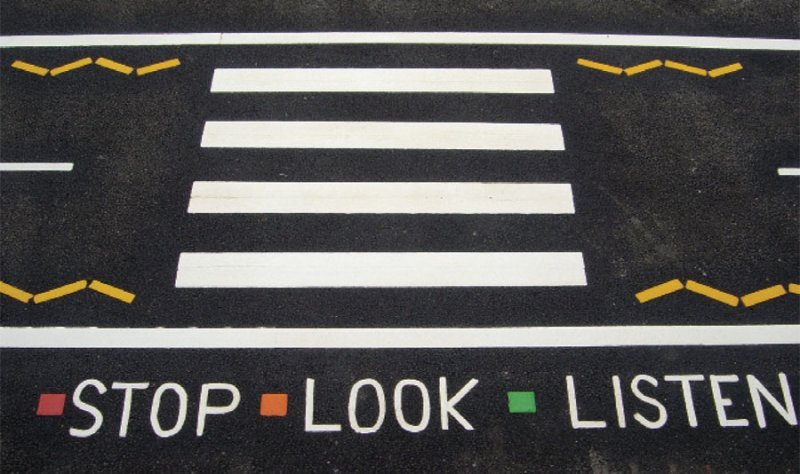 marking-stop-look-listen