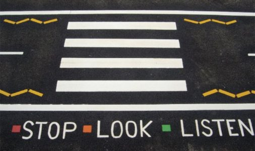 marking-stop-look-listen
